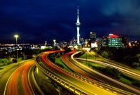 Motorways and Skytower, Auckland Fine Art Print