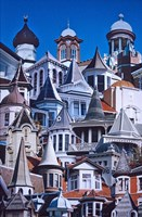 Turret Town, Montage of Turrets from Dunedin's Historical Buildings, New Zealand by David Wall - various sizes