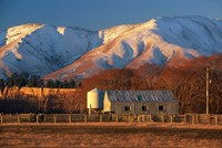 Woolshed and Kakanui Mountains, Otago, New Zealand by David Wall - various sizes