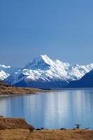 Aoraki Mount Cook and Lake Pukaki, Mackenzie Country, South Canterbury, South Island, New Zealand by David Wall - various sizes