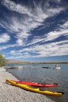 Kayaks, Lake Ohau, Canterbury, South Island, New Zealand by David Wall - various sizes