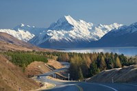 Road to Aoraki Mount Cook, Mackenzie Country, South Canterbury, South Island, New Zealand by David Wall - various sizes