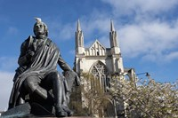 Robert Burns Statue, and St Paul's Cathedral, Octagon, Dunedin, South Island, New Zealand by David Wall - various sizes - $41.99