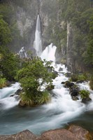 Tarawera Falls, Tarawera River, North Island, New Zealand Fine Art Print