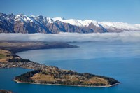 The Remarkables, Lake Wakatipu, and Queenstown, South Island, New Zealand Fine Art Print