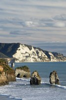 Three Sisters, White Cliffs, North Island, New Zealand by David Wall - various sizes