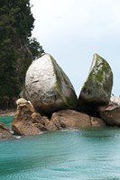 Split Apple Rock, South Island, New Zealand Fine Art Print