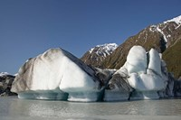 Icebergs in Tasman Glacier Terminal Lake, Canterbury, South Island, New Zealand by David Wall - various sizes