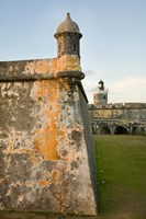 Puerto Rico, Walls and Turrets of El Morro Fort Fine Art Print