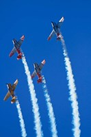 Aerobatic display by North American Harvards, or T-6 Texans, or SNJ, Airshow by David Wall - various sizes - $33.99