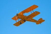 De Havilland DH 82A Tiger Moth Biplane, Warbirds over Wanaka, Airshow, New Zealand Fine Art Print