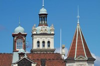 Turrets, Spires & Clock Tower, Historic Railway Station, Dunedin, South Island, New Zealand by David Wall - various sizes