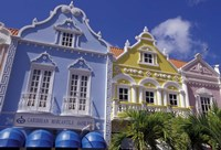Dutch Gabled Architecture, Oranjestad, Aruba, Caribbean Fine Art Print