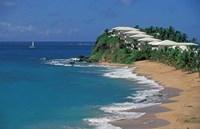 Curtain Bluff Hotel and Beach, Antigua, Caribbean Fine Art Print