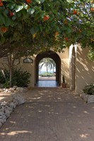 Archway to Pool at Tierra del Sol Golf Club and Spa, Aruba, Caribbean Fine Art Print
