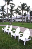 Adirondack Chairs, Ocean Club in Paradise, Atlantis Resort, Bahamas by Bill Bachmann - various sizes