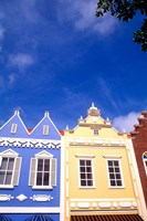 Dutch Architecture, Oranjestad, Aruba Fine Art Print