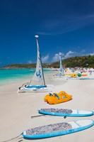 Antigua, Dickenson Bay, beach, sailboats Fine Art Print