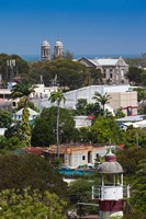 Antigua, St Johns, elevated city view Fine Art Print