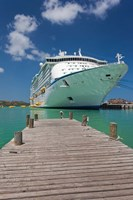 Antigua, St Johns, Heritage Quay, Cruise ship Fine Art Print