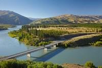 Bannockburn Bridge and Kawarau Arm, Lake Dunstan, South Island, New Zealand by David Wall - various sizes