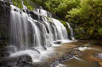 Purakaunui Falls, Catlins, South Otago, South Island, New Zealand Fine Art Print