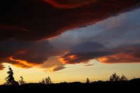 Spectacular sunset over Mossburn, Southland, South Island, New Zealand by David Wall - various sizes