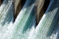 Water from Clyde Dam, Otago, South Island, New Zealand by David Wall - various sizes