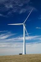 Wind turbine at Mt Stuart wind farm, South Otago, New Zealand by David Wall - various sizes