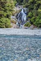 New Zealand, South Island, Mt Aspiring National Park, Fan Tail Falls by Rob Tilley - various sizes