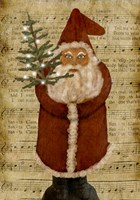 Old Time Santa Fine Art Print