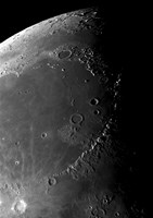 Craters Copernicus, Plato, Eratosthenes, and Archimedes near the Montes Apenninus Mountain Range by Phillip Jones - various sizes