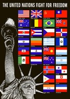The United Nations Fight for Freedom by John Parrot - various sizes