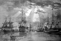 US Naval Ships during the Civil War Fine Art Print