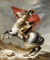 Napoleon Bonaparte on his Horse Framed Print