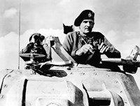 Field Marshal Bernard Law Montgomery in his Tank by John Parrot - various sizes, FulcrumGallery.com brand