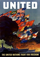 United (War Propoganda Poster) by John Parrot - various sizes