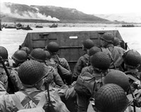 American troops in Landing Craft by John Parrot - various sizes, FulcrumGallery.com brand