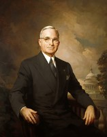 Harry S Truman (color portrait) Fine Art Print