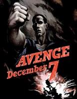 World War II Poster Declaring Avenge December 7th by John Parrot - various sizes