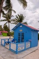 Bahamas, Eleuthera, Princess Cays, beach bungalow Fine Art Print