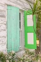 Beach House Green shutters, Loyalist Cays, Bahamas, Caribbean by Walter Bibikow - various sizes