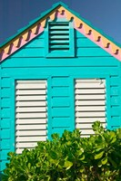 Colorful Cottage at Compass Point Resort, Gambier, Bahamas, Caribbean Fine Art Print