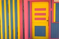 Colorful Doorway, New Providence Island, Bahamas, Caribbean by Walter Bibikow - various sizes