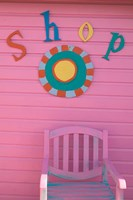 Colorful Sign at Compass Point Resort, Gambier, Bahamas, Caribbean by Walter Bibikow - various sizes