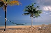 Beach Scene at The Inn at Bahama Bay, Grand Bahama Island, Caribbean Fine Art Print