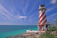 Lighthouse at High Rock, Grand Bahama Island, Caribbean by Nik Wheeler - various sizes