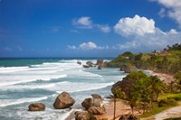 Rocky coastline, Barbados at Bathsheba Fine Art Print