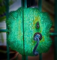 Iron Gate Door Handle in Road Town, Tortola, British Virgin Islands by Joe Restuccia III - various sizes