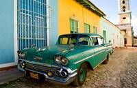 1958 Classic Chevy Car, Trinidad Cuba Fine Art Print